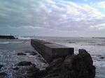 鯨波 日本海は波が高い