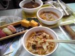 親父の握る生寿司 と 刀削坦々麺 (たべかけ)