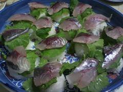 尺アジの手作り寿司