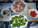 イナダ、アジ、ウマズラの刺身 シャリにのせて食べる!